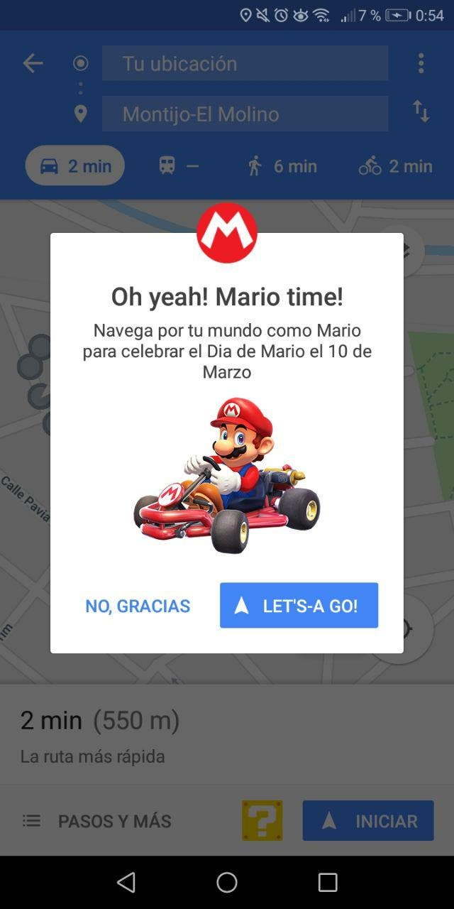super Mario kart en google maps