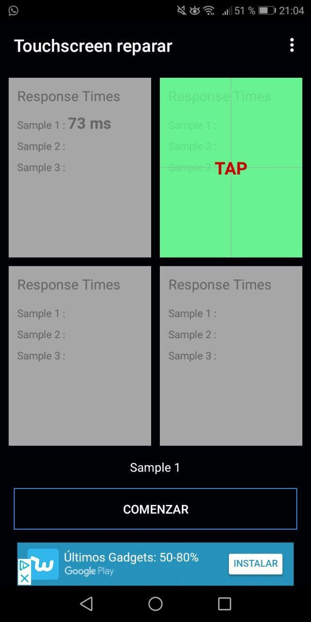 calibrar la pantalla táctil en Android