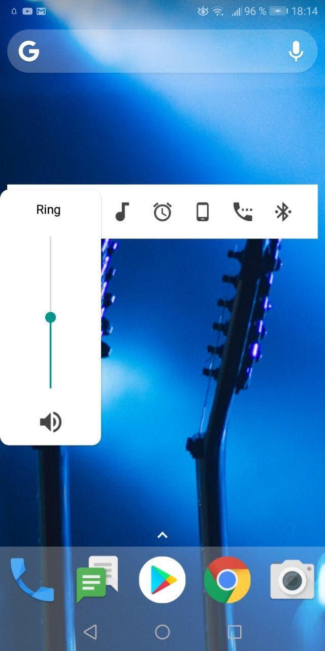 controles de volumen de Android P