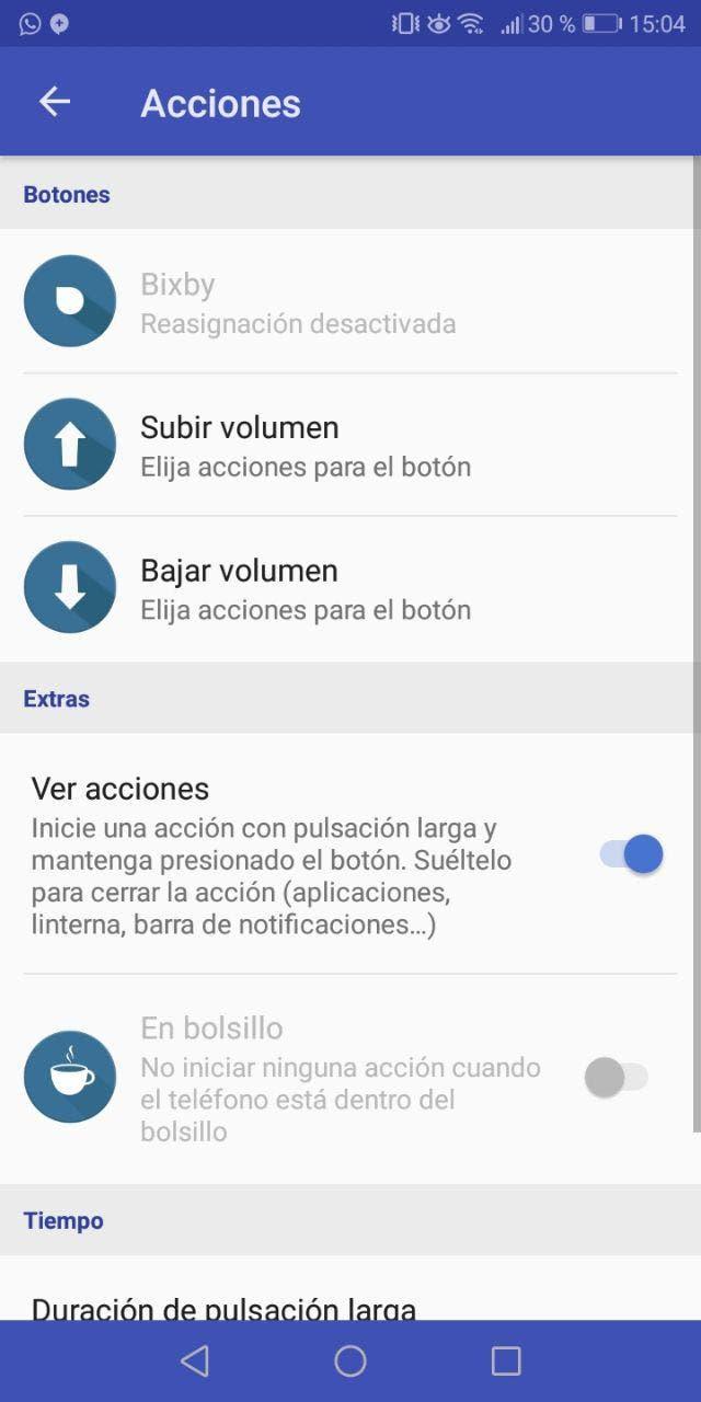 cambiar función al botón de Bixby