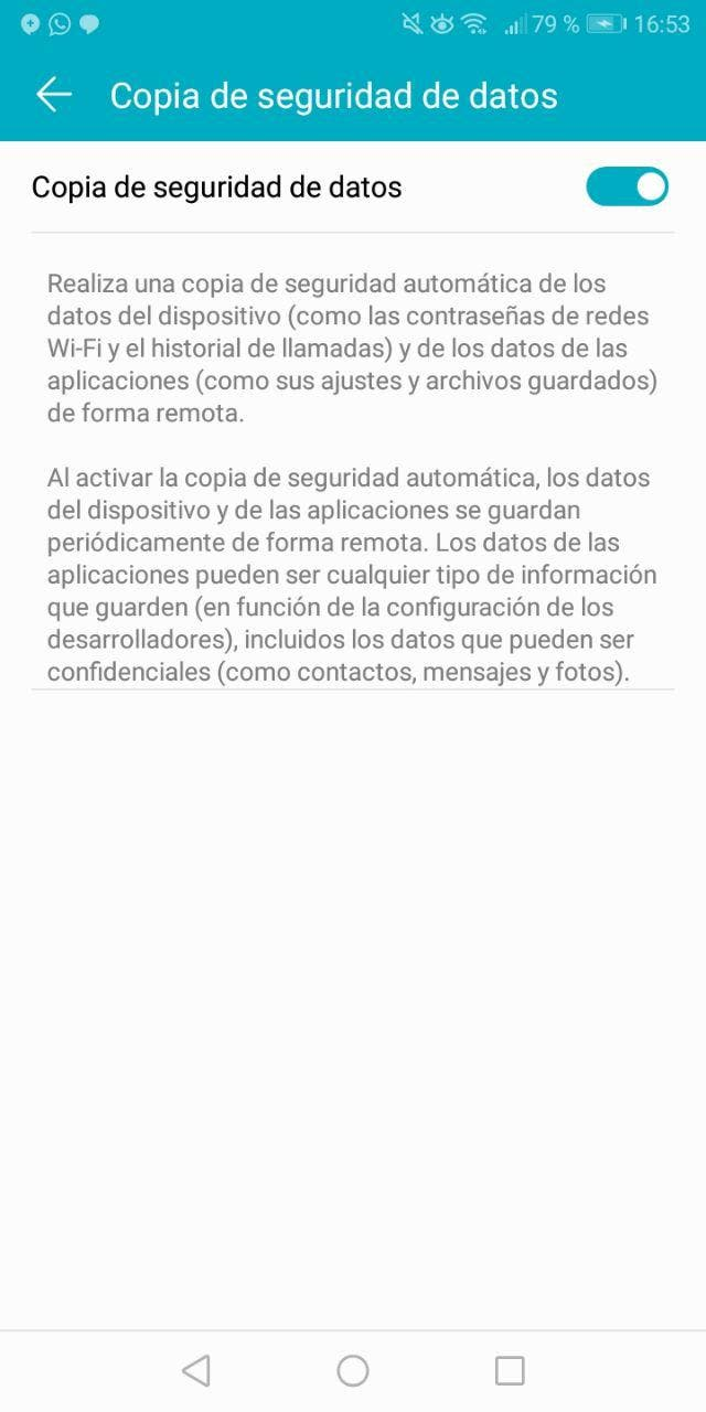 copia de seguridad de android