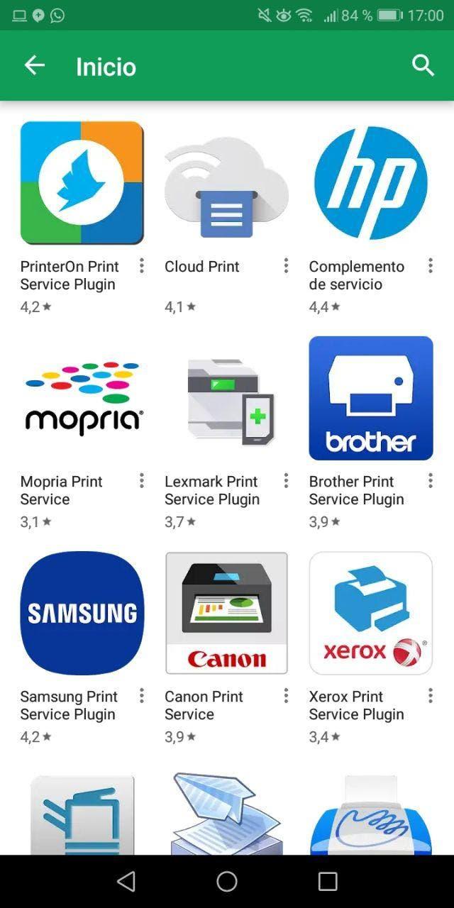 aplicaciones de impresora