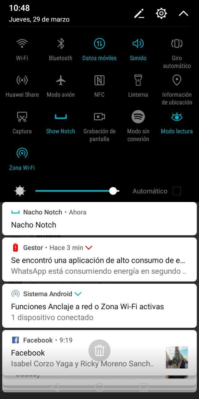 ocultar el notch en android