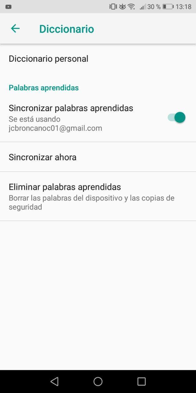 crear atajos de teclado en Android