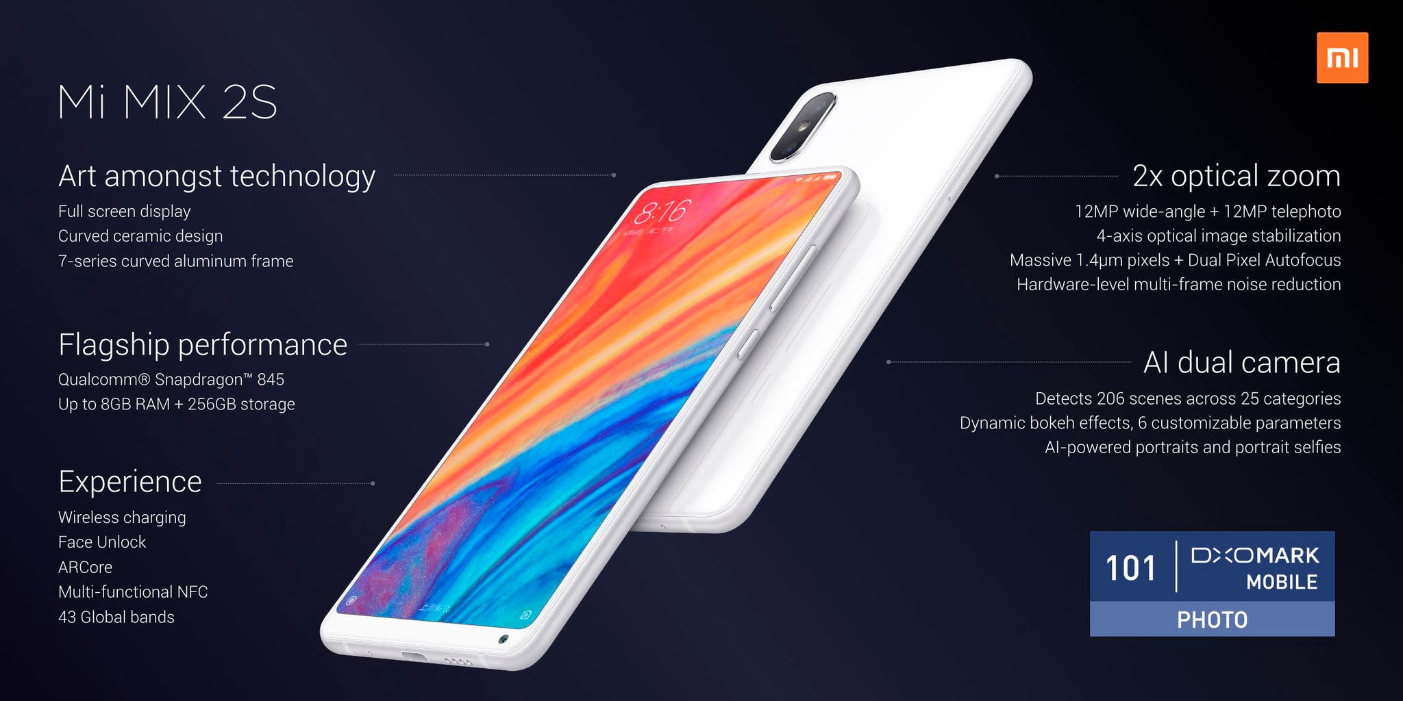 Características Xiaomi Mi MIX 2S