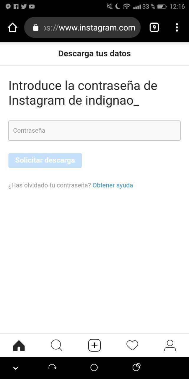 privacidad de Instagram