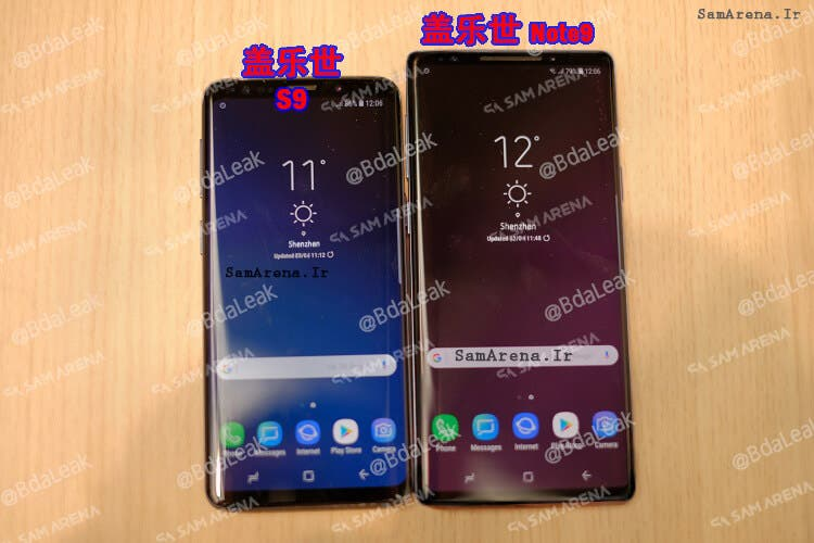 pantalla del Samsung Galaxy Note 9