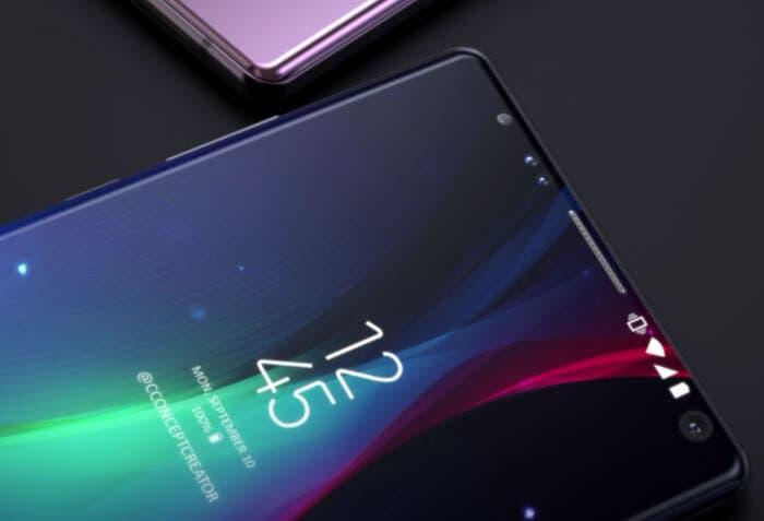 render del Samsung Galaxy Note 9