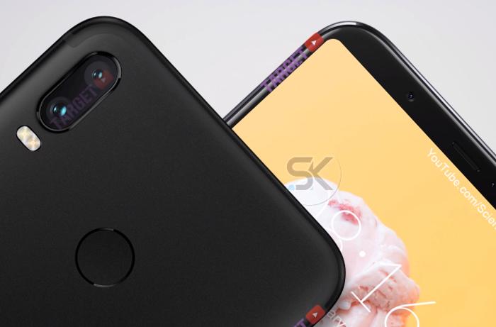 render del Xiaomi Mi A2