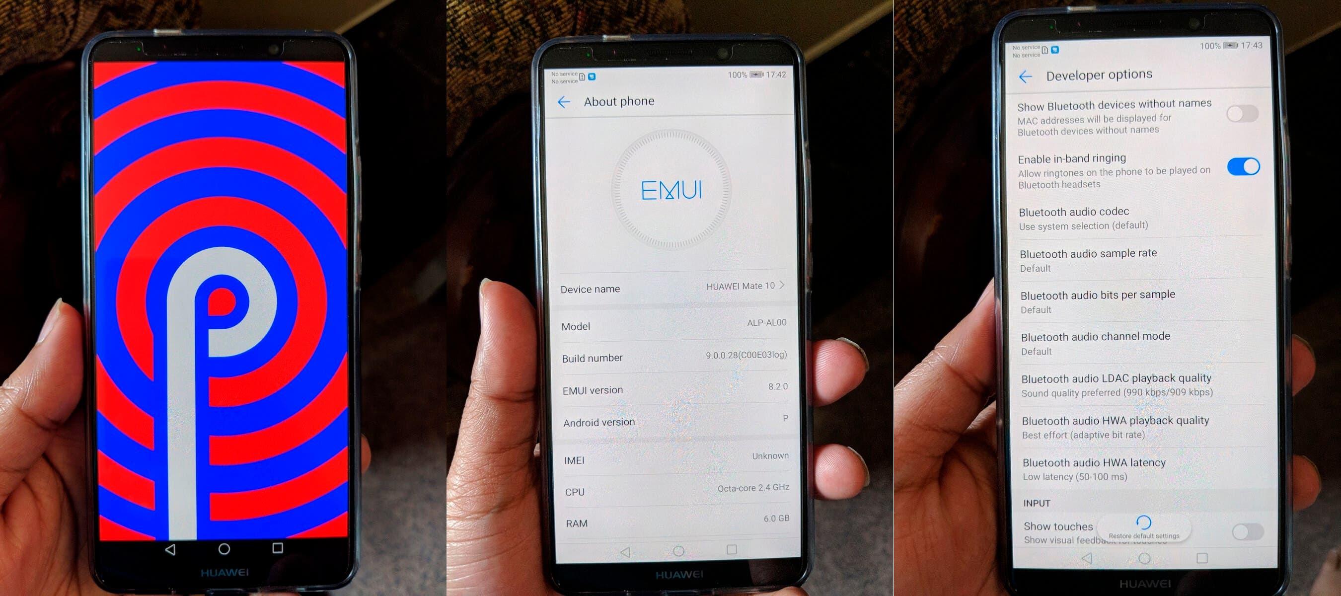 Android P en el Huawei Mate 10 Pro