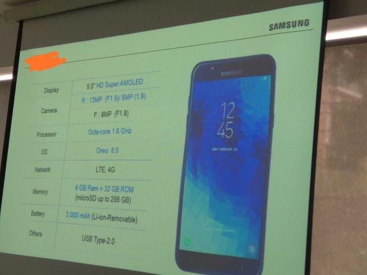 especificaciones del Samsung Galaxy J7 2018