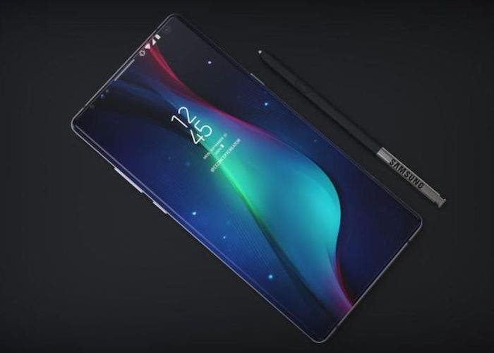 pantalla del galaxy note 9