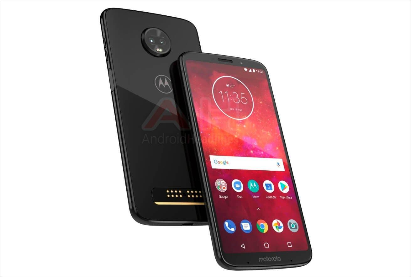 Render oficial del Motorola Moto Z3 Play