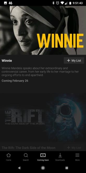 aplicación de Netflix para android