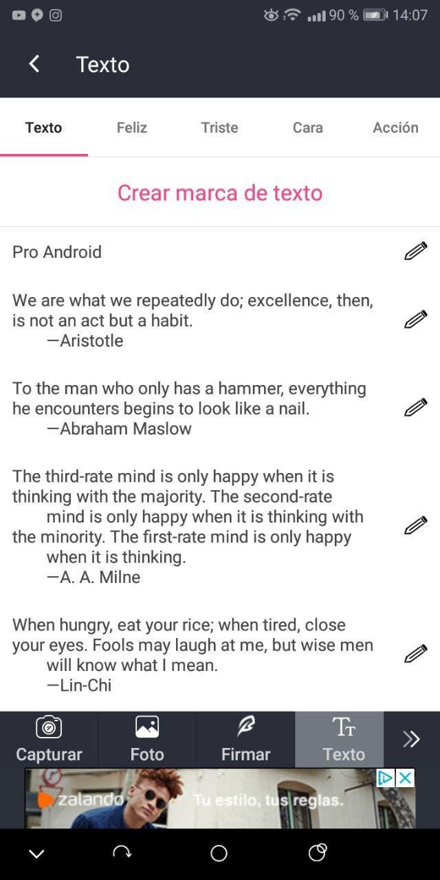 añadir marcas de agua en android