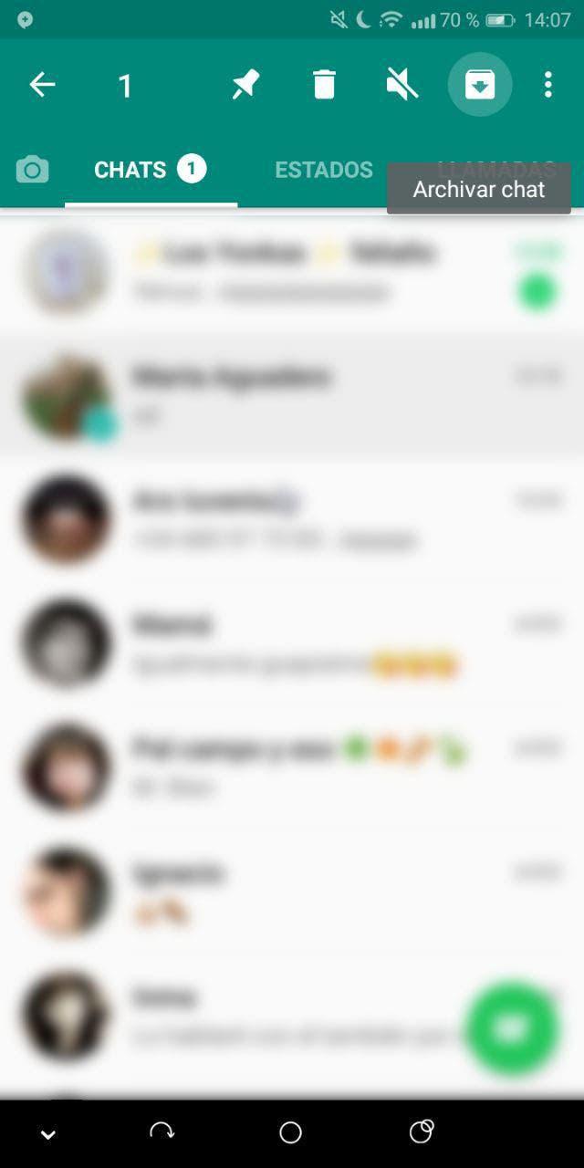 ocultar conversaciones en whatsapp