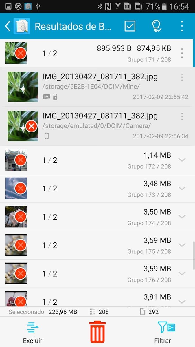 borrar archivos duplicados en Android