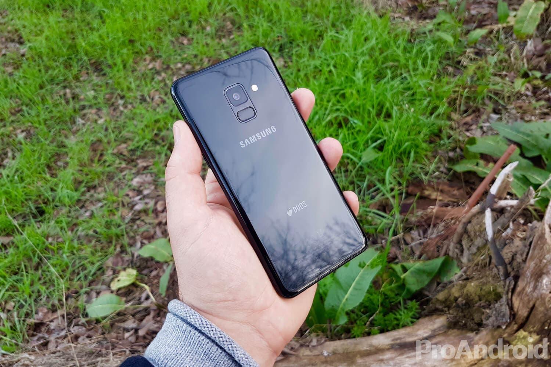 Parte trasera del Samsung Galaxy A8