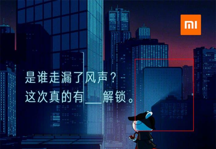 Detalle del teaser del Xiaomi Mi 8