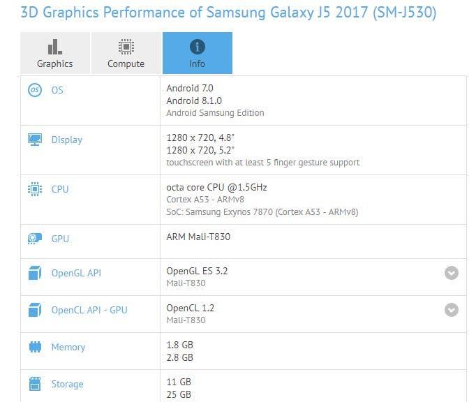 Android Oreo para el Samsung Galaxy J5 2017