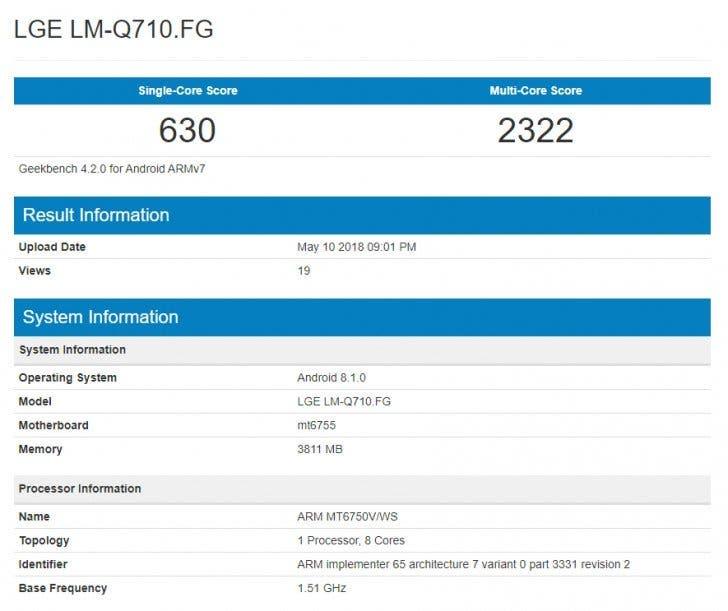 características del LG Q7