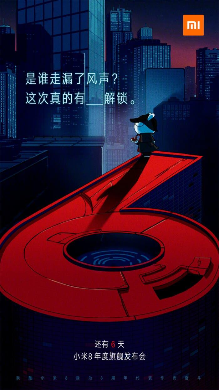 Teaser del Xiaomi Mi 8