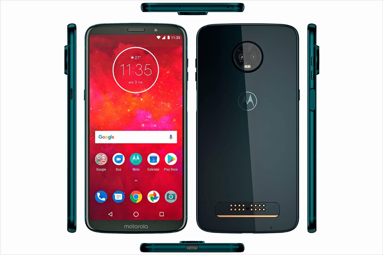 Diseño del Motorola Moto Z3 Play