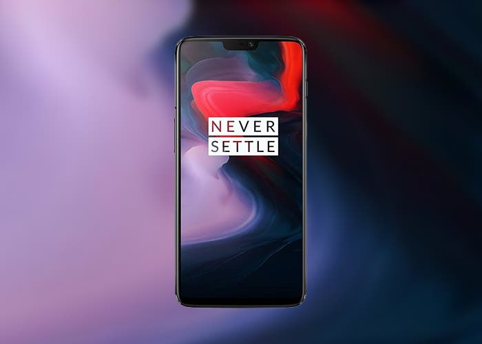 frontal del oneplus 6
