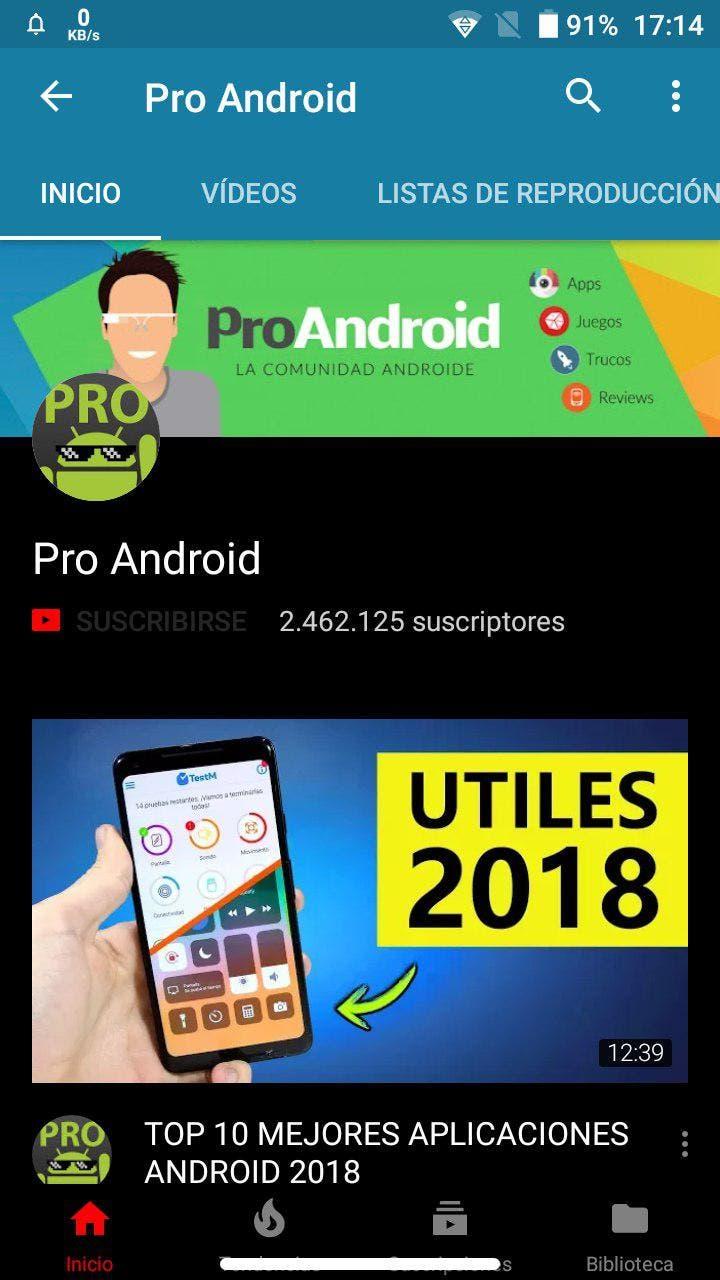 modo oscuro de youtube para android
