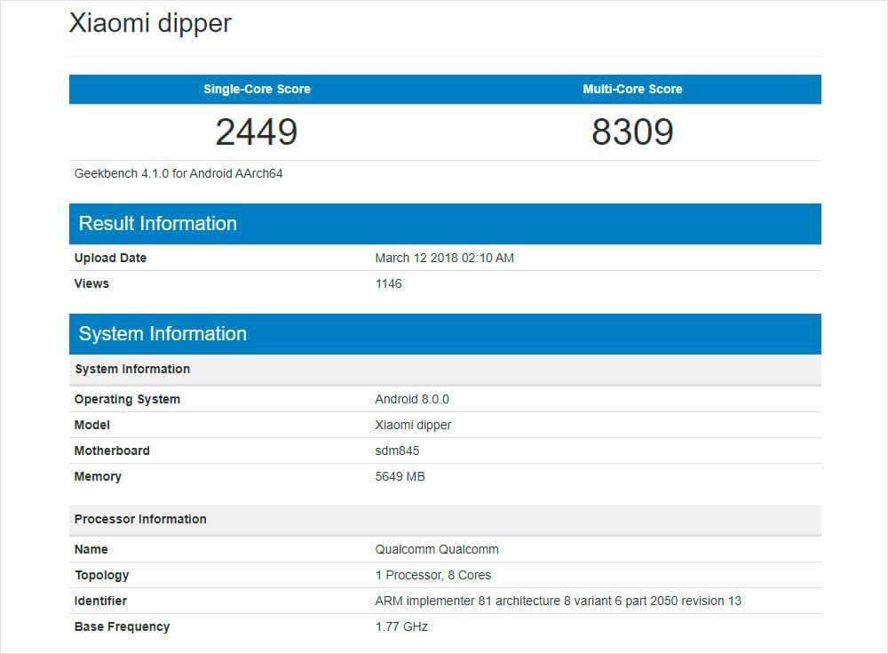 Características del Xiaomi Mi 7