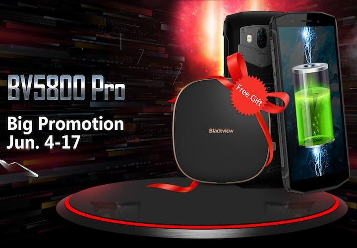 Consigue un cargador inalámbrico gratis con la compra de un Blackview BV5800 Pro por solo 115 euros