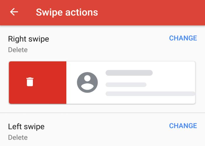 La nueva actualización de Gmail para Android incluye gestos personalizados
