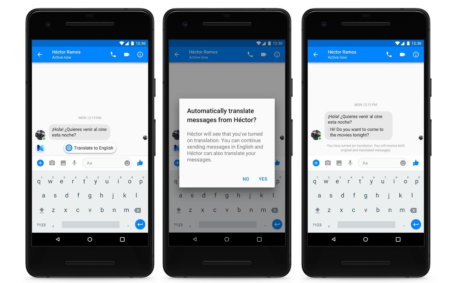 Facebook Messenger ya traduce de inglés a español