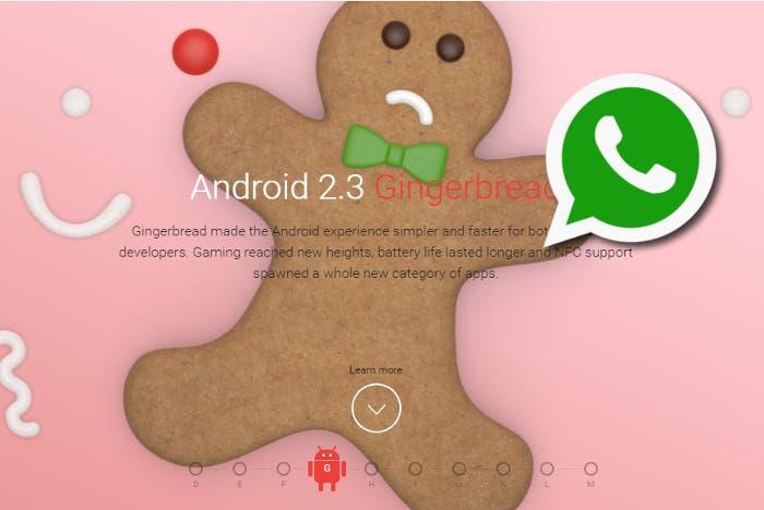 WhatsApp dejará de dar soporte a móviles con Gingerbread
