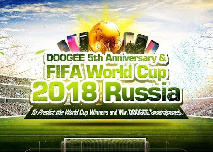 Consigue móviles Doogee gratis con motivo del Mundial de fútbol en Rusia