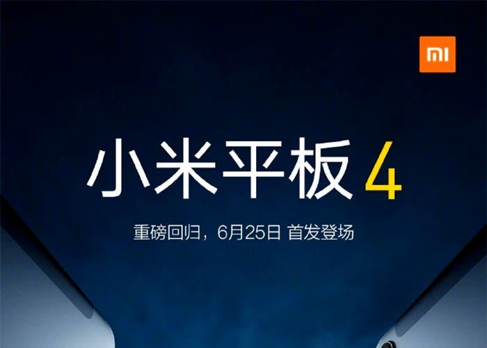 Se confirman algunas características de la Xiaomi Mi Pad 4 de manera oficial