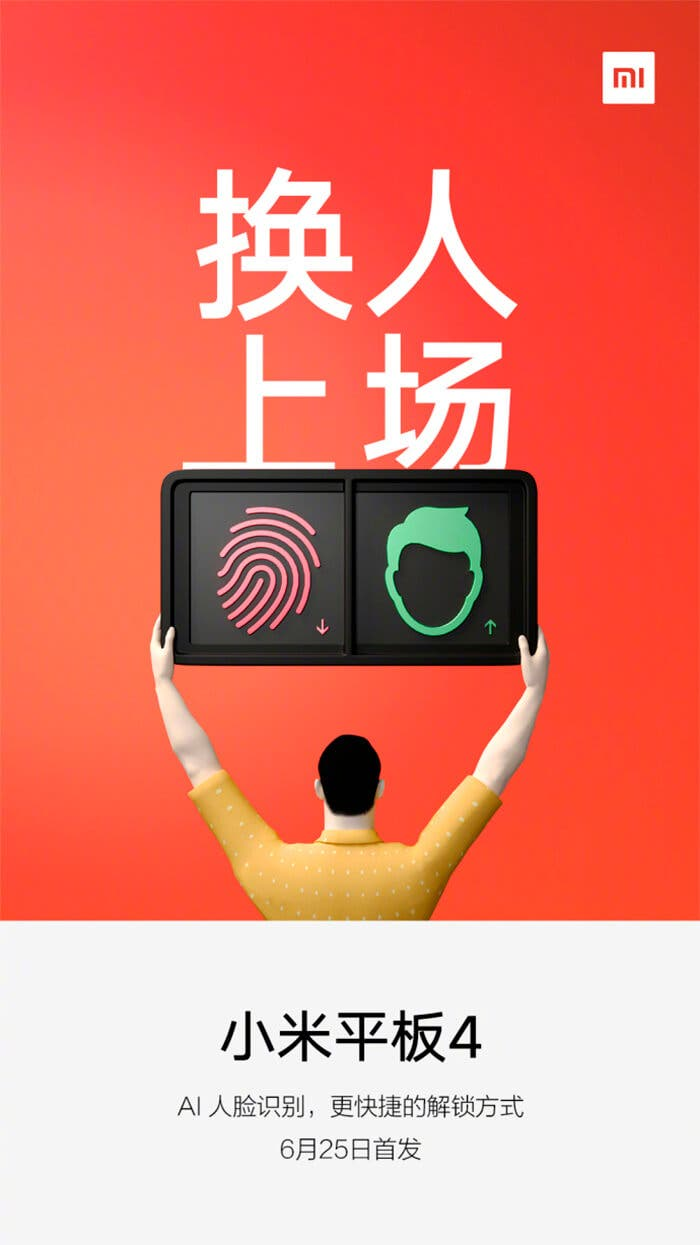 Xiaomi Mi Pad 4 con reconocimiento facial