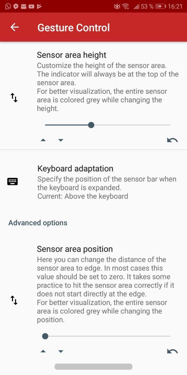 barra de navegación de android P