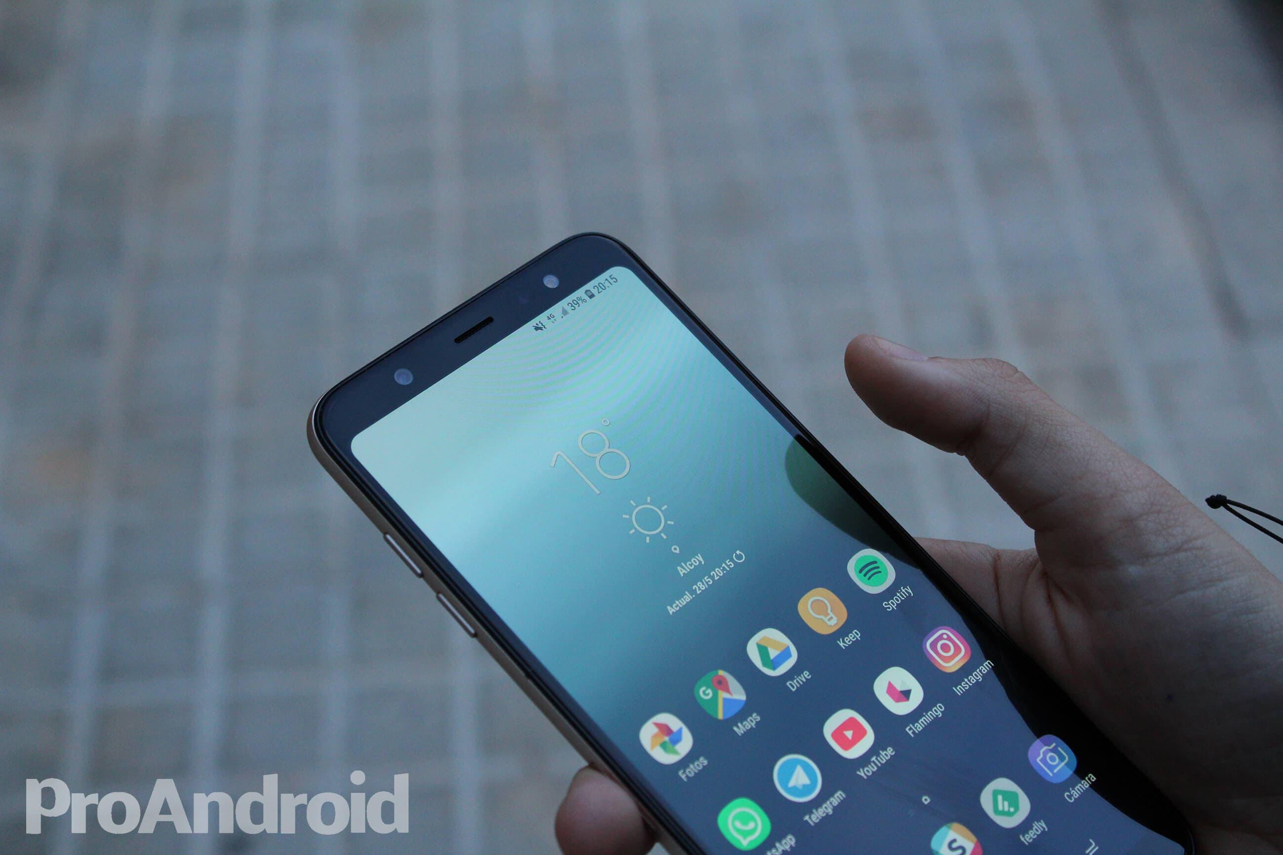 Pantalla del Samsung Galaxy A6+