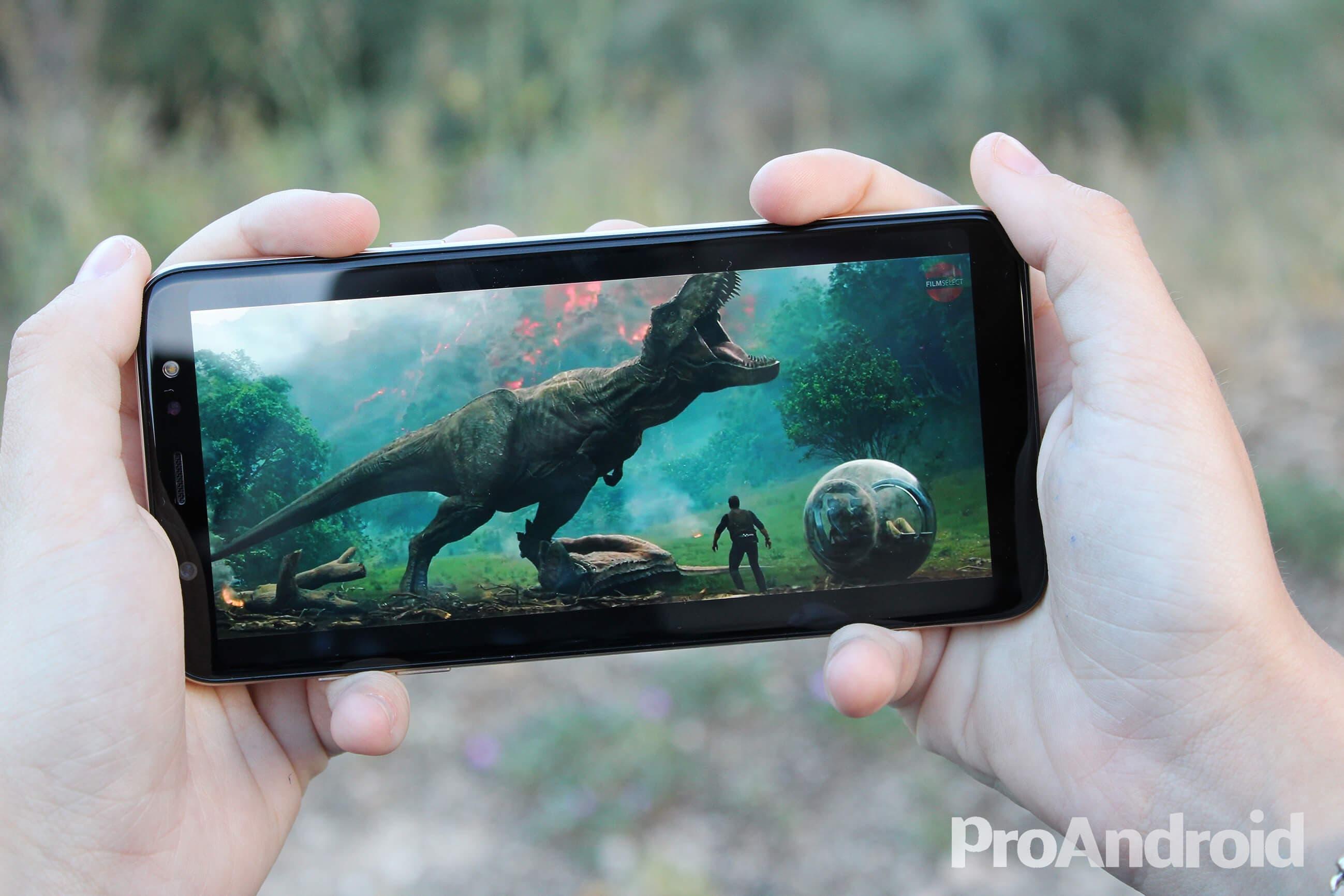 Vídeo en el Samsung Galaxy A6+