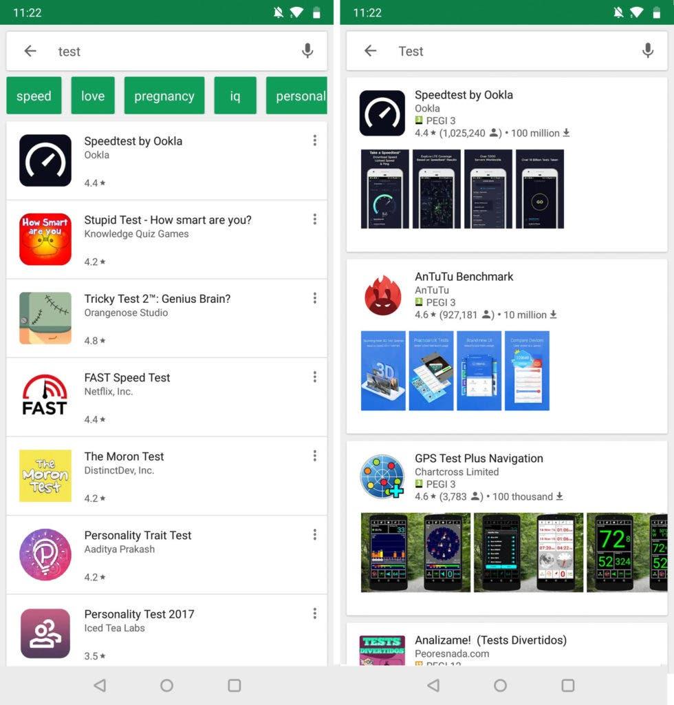 nuevo diseño Google Play Store