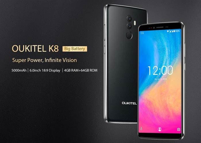 Oukitel K8 se presenta con una gran batería y un diseño renovado