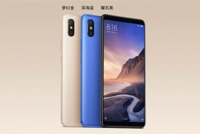 Confirmadas todas las características del Xiaomi Mi MAX 3