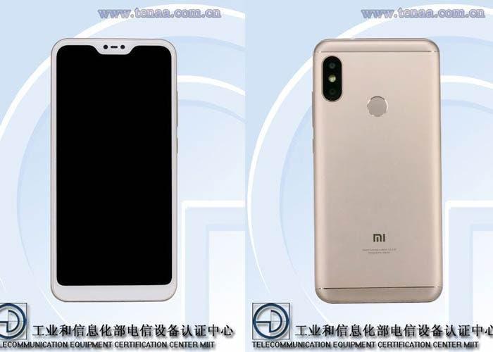 Xiaomi Mi A2 Lite Azul filtración