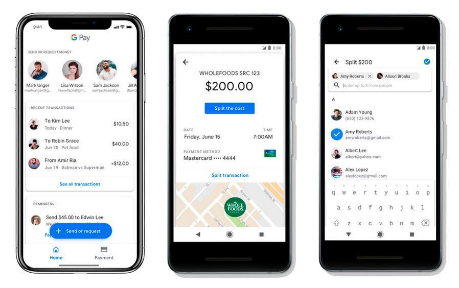 Actualización de Google Pay en el smartphone