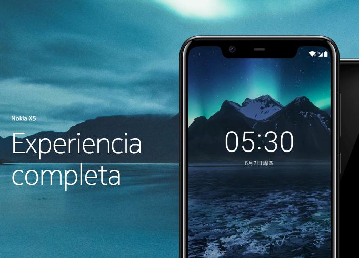 El Nokia X5 es oficial: diseño premium con actualización asegurara a Android P