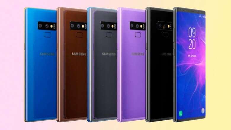 Samsung Galaxy Note 9 colores