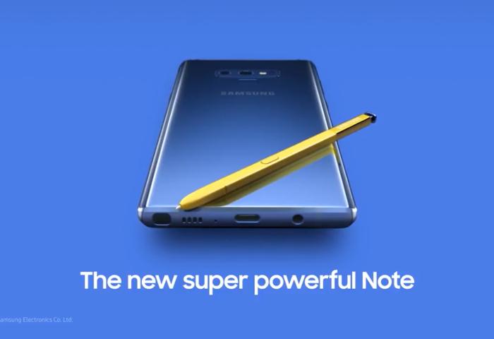 Filtrado un vídeo oficial del Samsung Galaxy Note 9