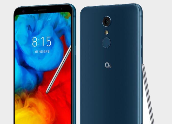 Nuevo LG Q8 2018: un gama media con buena pantalla y Stylus