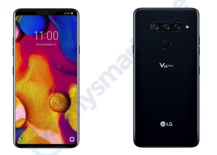 LG V40 ThinQ: las primeras filtraciones confirman el notch y la triple cámara